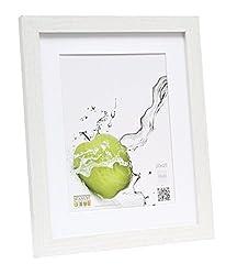 Deknudt Frames Basic Bilderrahmen, Holz/MDF, mit Passepartout, Weiß, weiß, 20 x 25 cm