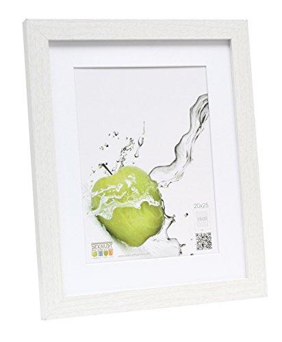 Deknudt Frames S66KF1-P1-20.0X25.0 - Cornice quadro / foto Basic, bordi in legno/MDF, colore bianco, 20 x 25 cm