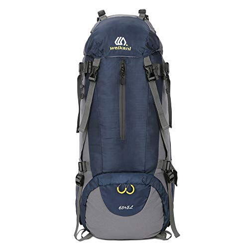 BGROESTWB Hiking Backpack Large 70L Outdoor Sports Backpack Camping Hiking Waterproof Rucksack Mountaineering Bag Sport Trekking Camping (Color : Navy blue, Size : 70L)