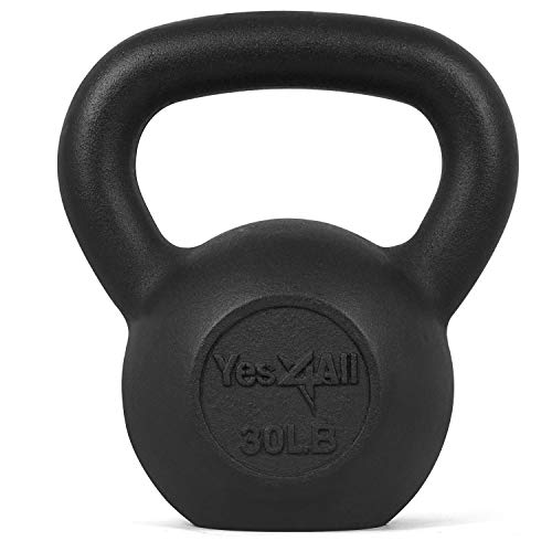 Yes4All Solid Cast Iron Kettlebell Weights Set , Great for Full Body Workout and Strength Training,...