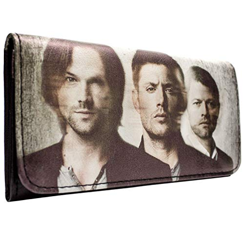 Warner Bros Supernatural TV Cast White Coin & Card Tri-Fold Purse