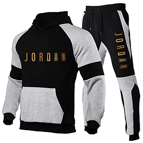 QXYJ Chicago Bulls Michael Jordan 23# - Sudadera con capucha para hombre, estilo informal, deporte, gimnasio, sudadera, chándal, 2 unidades (S-3XL), jordan ~ 8-XL