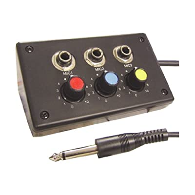 MAPLIN 3 Channel Way Mini Microphone Mixer Mic Connecting Box Level Volume Control
