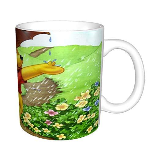 Winnie The Pooh - Taza de café divertida para el día del padre para papá de la hija y el hijo, para el día del padre, cumpleaños, para papá, padre, hombres, taza mágica de café de 11 onzas