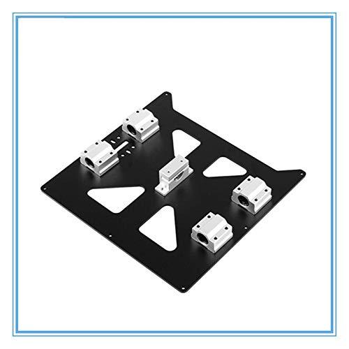 Piastra 1set alluminio anodizzato Y del carrello con il supporto della SC8UU cuscinetti e la cinghia for le Prusa I3 V2 Hot Bed piastra di supporto for Prusa I3 RepRap ( Taglia : Black set )