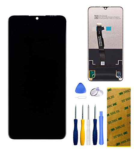 Xlhama Pantalla LCD Cristal Táctil Compatible con Huawei P30 Lite Negro Completo Ensamblado Herramientas de Reparación de Reemplazo con Protector de Pantalla 3M Adhesivo de Doble Cara