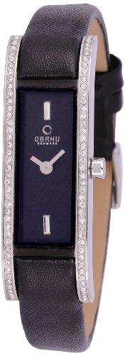 Obaku Denmark V159LEABRB - Orologio da polso donna, pelle, colore: nero
