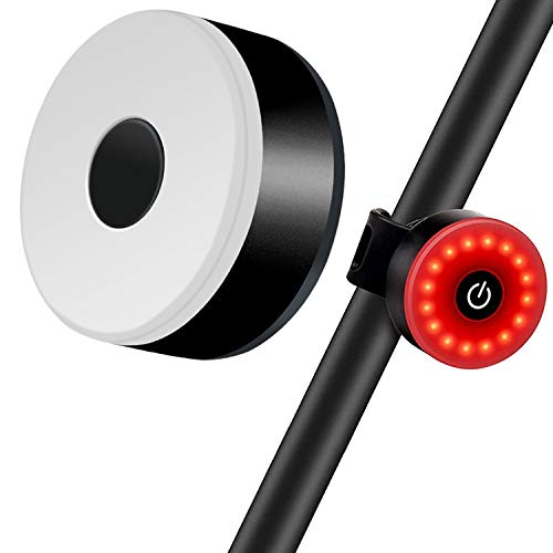 AODENER Aufladbar Fahrradrücklicht Wasserdicht Bike Light-Fahrrad-Rücklichter Bike taillight mit 5 Modi protable ultrahelle LED Licht für MTB, Helm, Rucksack (schwarz)