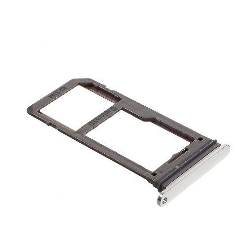 jbTec SD-Card/SIM-Tray/Halter passend für Samsung Galaxy S8/Plus - Slot Karte Schlitten Rahmen Holder Handy Card Ersatz, Farbe:Silber