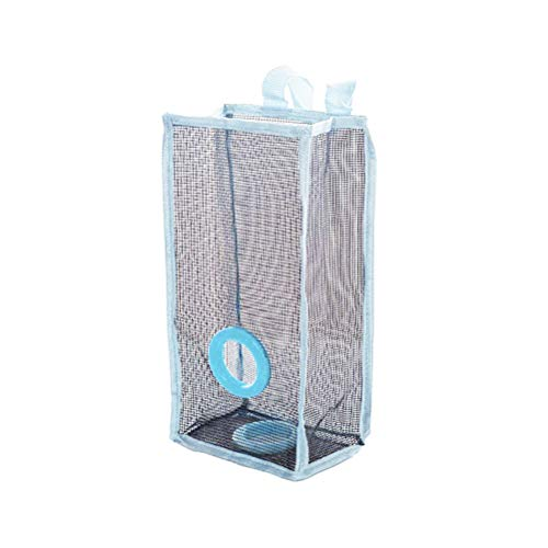 BEST ON ZON Plastic Mesh Bag Holder Rubbish Dispenser Hanging Folding Mesh Garbage Bag Organizer Trash Bags For Kitchen Office Home