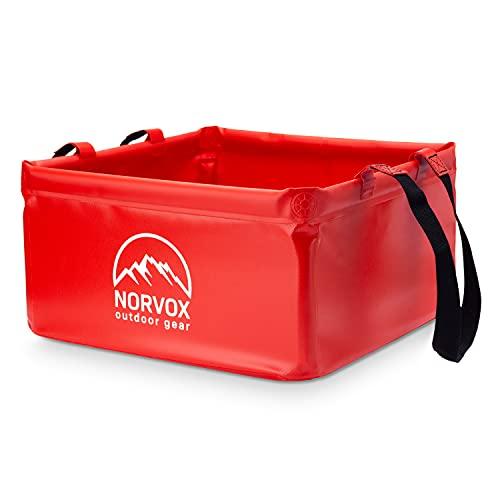 NORVOX Cuenco plegable para exteriores (rojo señal – 20 L)