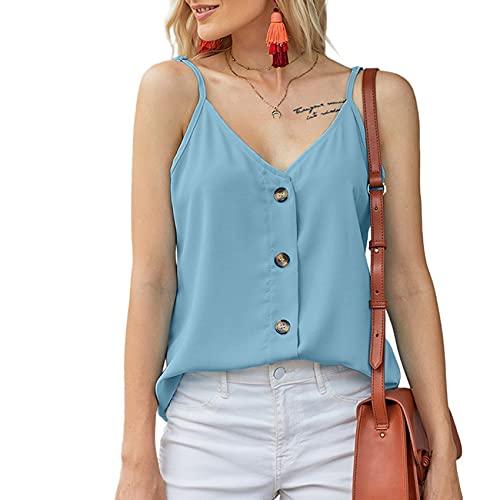 Camisola Chaleco De Fondo De Verano para Mujer Ropa Interior Suelta Color SóLido DiseñO De Pecho Halter Camisola Top
