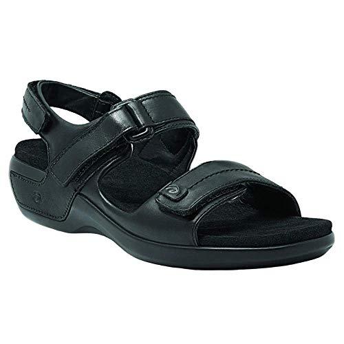Aravon Womens Katy,Black Leather,10 N (AA) US