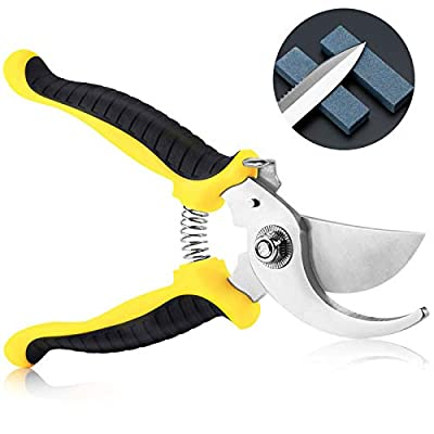 """Garden Pruning Shears, 7.5"""" Hand Gardening Cutter, Professional Garden Scissors with Straight Stainless Steel Blade, Ultra Sharp Clippers Scissors for Trimming, Fruits, Flowers, Plants"""