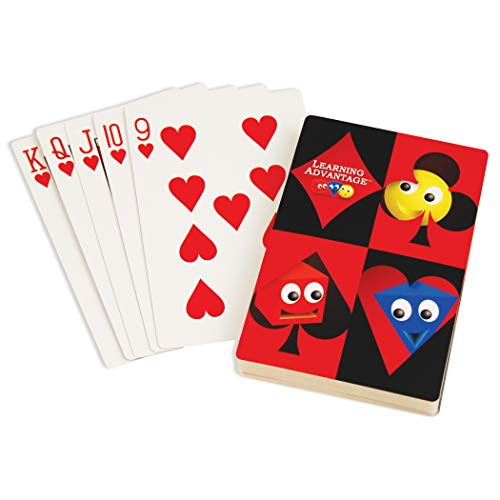 Learning Advantage Giant Playing Cards, 52 Per Pack