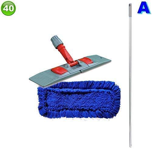 Set mit 1 Wischmopp Wischmop Acryl Industriequalität waschbar in 40 50 60 80 cm (40 cm)