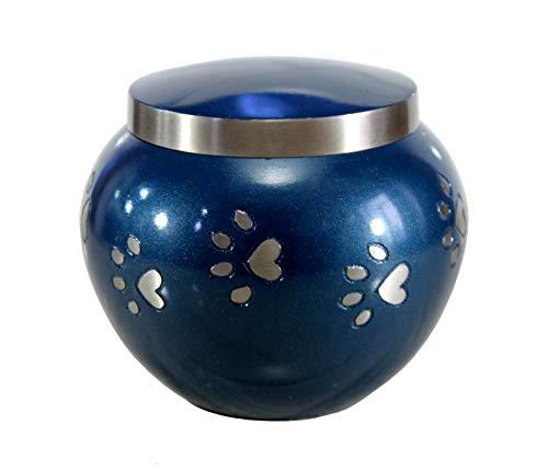 eSplanade - Recipiente de urna de cremación para Mascotas/Perros/Gatos; para Mascotas, Cenizas y urnas de latón, urnas de Metal