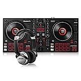 Numark Mixtrack Platinum FX + Numark HF125 – 4-Deck DJ Controller for Serato DJ + Ultra-Portable Professional DJ Headphones