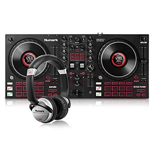 Numark Mixtrack Platinum FX + HF125 – Controlador DJ de 4 secciones...