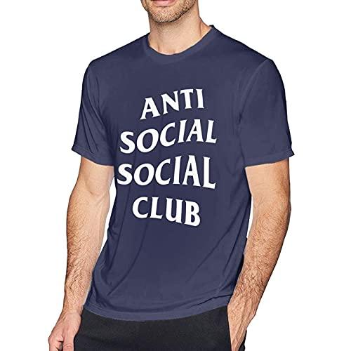 Anti Social Club 100% Cotton Man'S Heavyweight T-Shirts Crew Neck Short Sleeve tee