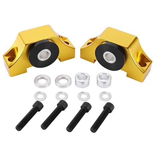 NovelBee Engine Motor Torque Mount Bracket Kit Fit for 1992-2000 Honda Civic EG EK B-Series D-Series B16 B18 B20 D16 (Gold)