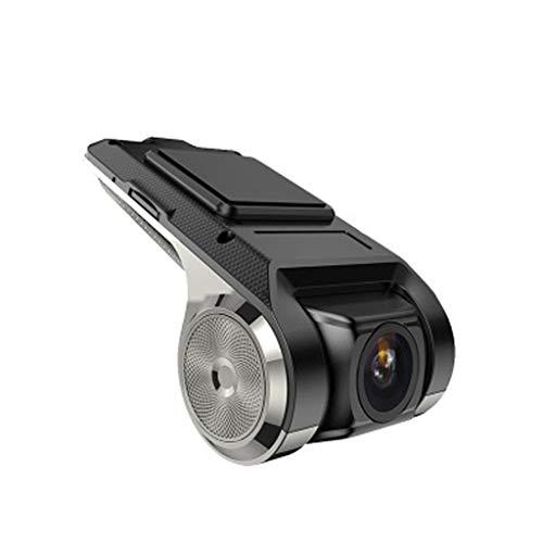 Cámara del vehículo Full HD 1080P Cámara para Coche 170° Grados de Amplio Ángulo con Detección De Movimiento, Visión Nocturna, G-Sensor, Loop de Grabación (Negro)
