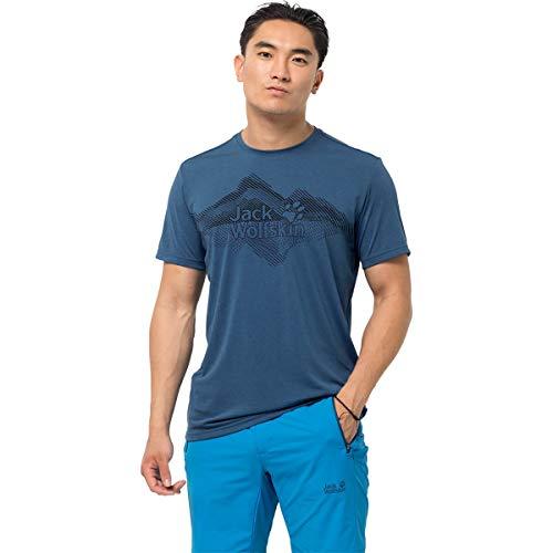 Jack Wolfskin Crosstrail Graphic T-Shirt Homme T-Shirt Homme Indigo Blue FR : L (Taille Fabricant : L)