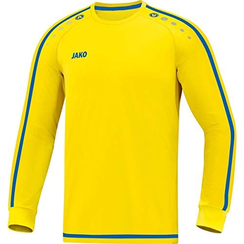 JAKO Kinder Striker 2.0 LA Trikot, Citro/Royal, 164
