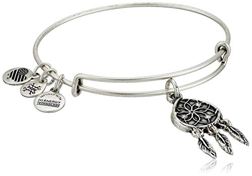 Alex and Ani Women's Dreamcatcher EWB Bracelet, Rafaelian Silver