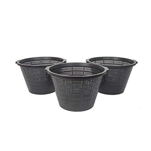 3 Pflanzkörbe XXL - RUND Wasserpflanzenkorb/Groß/für Gartenteich gut geeignet für Teichplfanzen wie Seerosen Teichpflanzen Korb, Wasserpflanzen