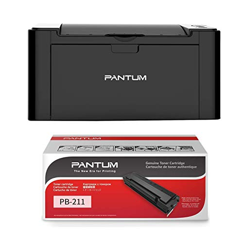 Pantum P2502W Monochrome Wireless Laser Printer with PB-211 Standard Yield Black Toner Cartridge