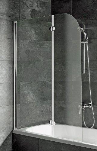 Unbekannt Schulte Badewannenfaltwand 2-teilig Alu Echtglas D3353