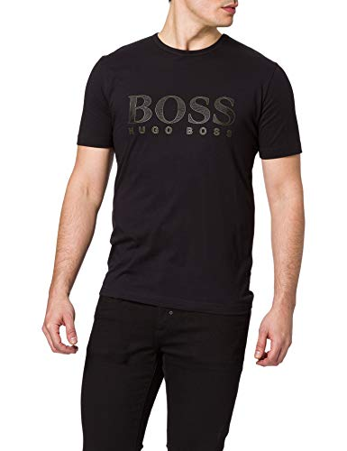 BOSS tee Gold 3 10213473 01 Camiseta, Negro1, S para Hombre