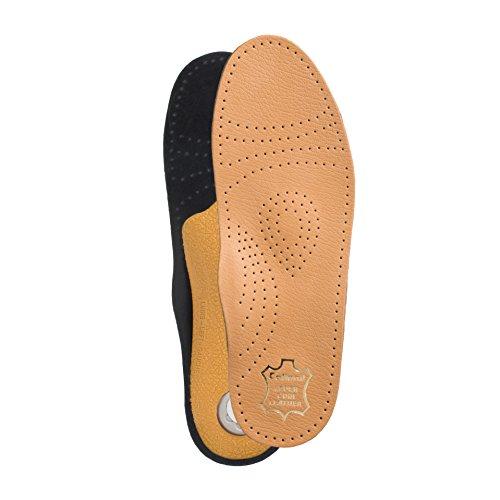 Collonil Bio Lederfußbett Premium Soft aus echtem Leder (Größen 36-49) + Rema Einlagenbeutel (45)