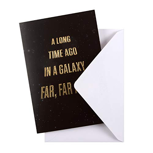 General Birthday Card from Hallmark - Star Wars Text Design