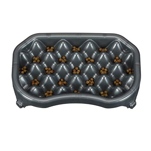 Neater Pet Brands - Neater Slow Feeder - Fun, Healthy, Stress Free Dog Bowl Helps Stop Bloat Prevents Obesity Improves Digestion (2.5 Cup, Gunmetal)