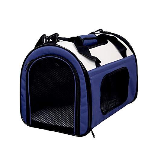 Sac à dos for animaux Sac transport Respirant Voyage transparent chien imperméable extérieur portable pliant avancée Convient for les petits Outing Espace aijia ( Color : Blue , Size : 51*30*31 )