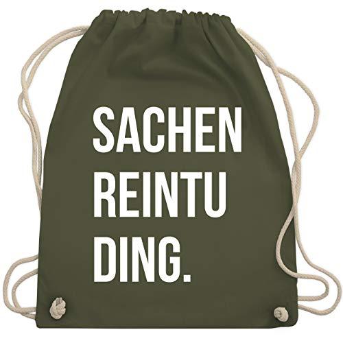 Shirtracer Festival Turnbeutel - Sachenreintuding - Unisize - Olivgrün - turnbeutel damen - WM110 - Turnbeutel und Stoffbeutel aus Baumwolle