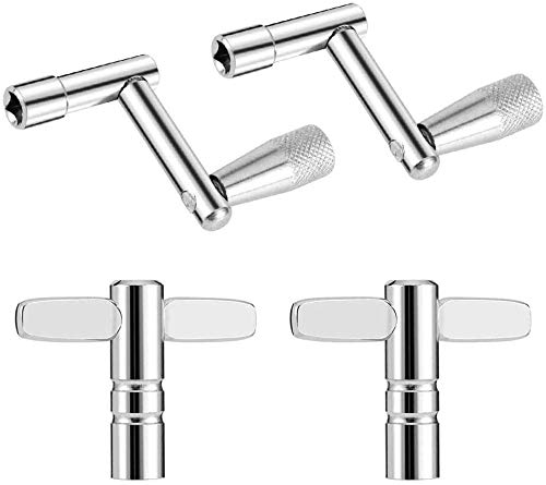 Drum Keys 4 Pack 2 Drum Tuning Key & 2 Continuous Motion Speed Key for Drummers Percussion Instruments Universal