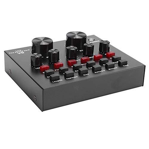 Scheda audio esterna professionale per live streaming, adattatore audio per smartphone e computer, scheda audio USB con 18 tipi di effetti sonori