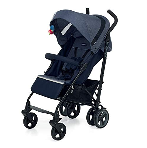Foppapedretti Hurrà Cochecito compacto para niños de 0 a 3 años Jeans Blue