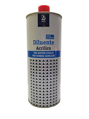 2BM DILUENTE Acrilico X Doppio Strato SOLVENTE Vernice Colore CARROZZERIA 1 LITRO