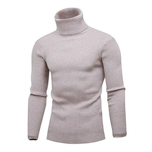 ZBBYMX herfst winter heren trui heren coltrui effen kleur casual trui mannen Slim fit merk gebreide trui