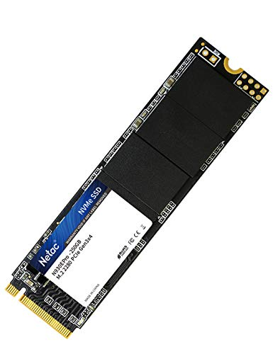Netac NVMe SSD 250 GB, SSD Interno, M.2 2280 PCIe Gen3 x 4, Alte Prestazioni 3D NAND Flash, Unità a stato solido integrata 256GB