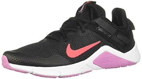 Nike Legend Essential, Zapatillas de Gimnasio Mujer, Black Flash Crimson Beyond Pin,...