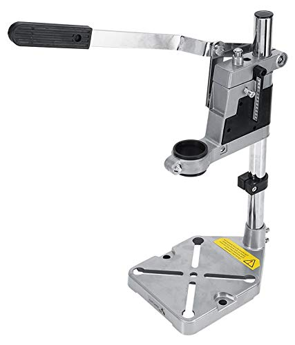 MLD Hand Drill Machine Stand Converter to Bench Press 400mm Height - Heavy Weighted - Bench Press Jig for electric Hand drill - Adjustable Collet upto 60mm - Drilling Depth upto 42mm.