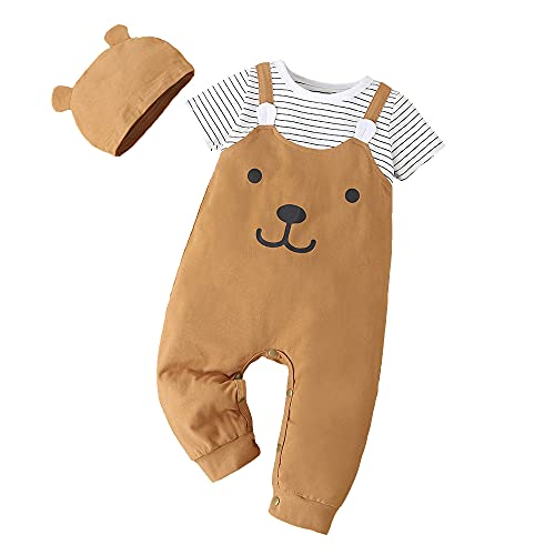 Conjunto de ropa para bebé, camiseta de manga larga, pantalón a rayas,...