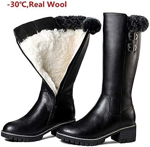 frauen stiefel warme winter dicken stiefel leder echtes stiefel vor dem haus damen stiefel c 16 #11