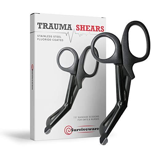 Surviveware Trauma & Bandage Shears for Nurses, EMTs, First Aid, 7.5 Inches