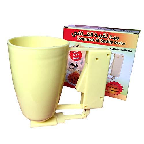 Trihedral-X Palle Medio Oriente distributore di pastella palmare Loqumat al Kadey Dispositivo polpetta Produttore (Size : Yellow)